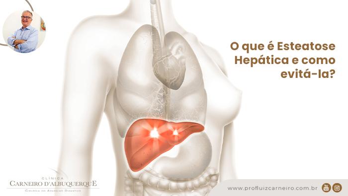 A imagem mostra uma ilustração do corpo humano com o fígado em destaque.