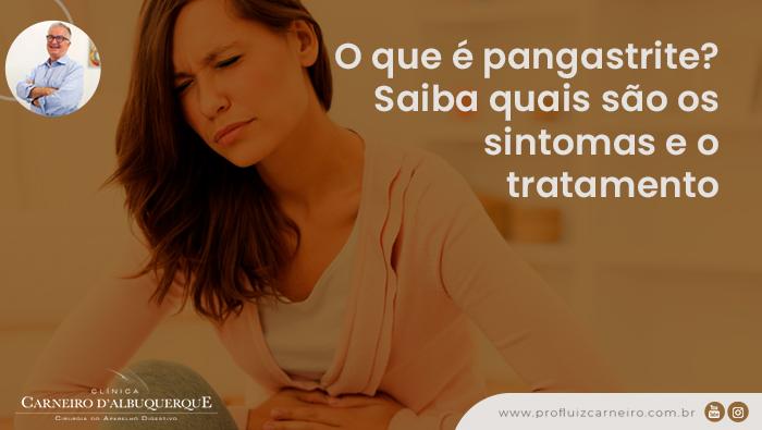 A imagem mostra uma mulher com expressão de mal estar, com as mãos na região do estômago.