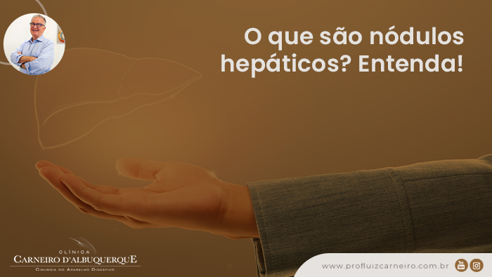 A imagem mostra uma montagem de uma mão e um fígado translúcido.