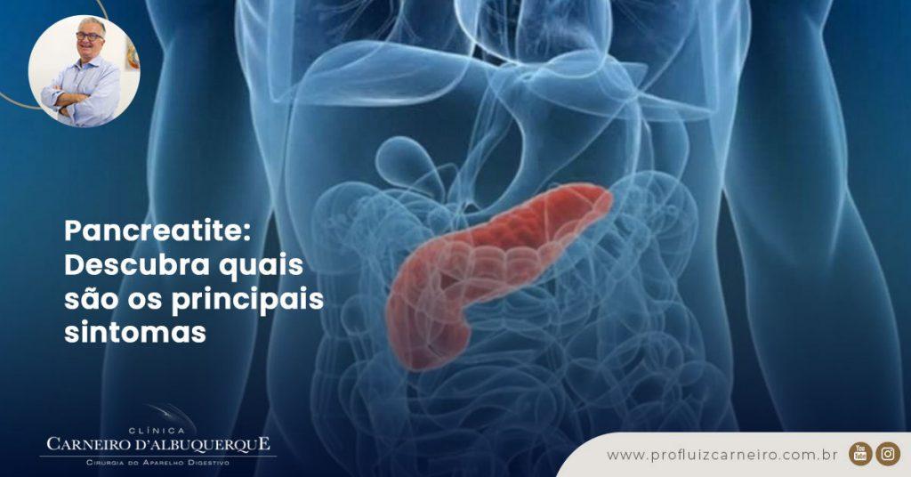 A imagem mostra uma ilustração do corpo humano e o pâncreas em destaque.